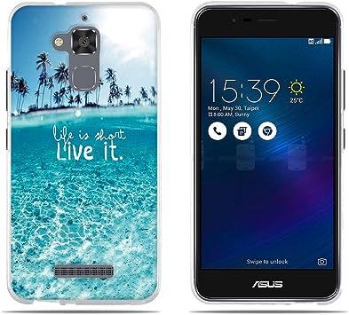 DIKAS Funda para ASUS ZenFone 3 MAX ZC520TL, TPU Transparente Gel ...