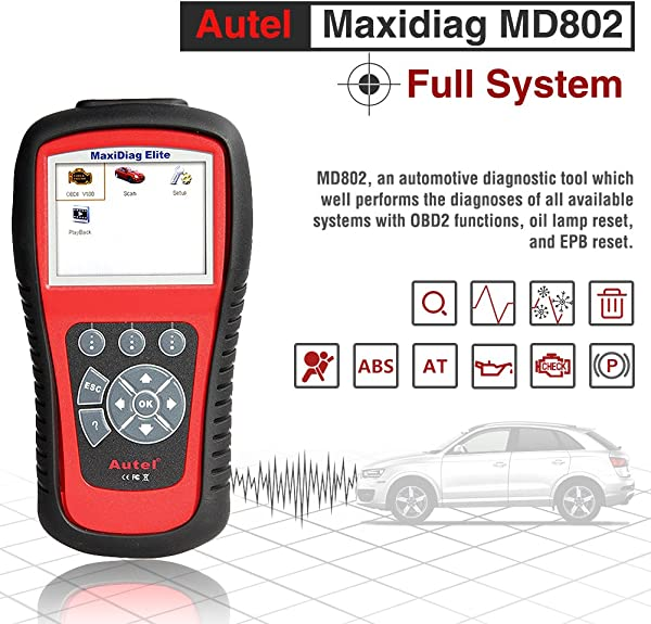 MD802 Maxidiag Elite Scan Tool