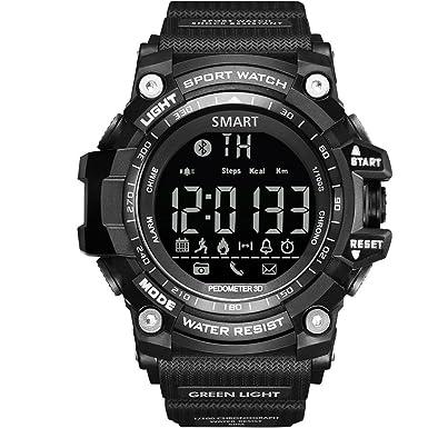 gimto Bluetooth Digital deportes reloj llamada recordatorio podómetro calorías distancia LED reloj de pulsera