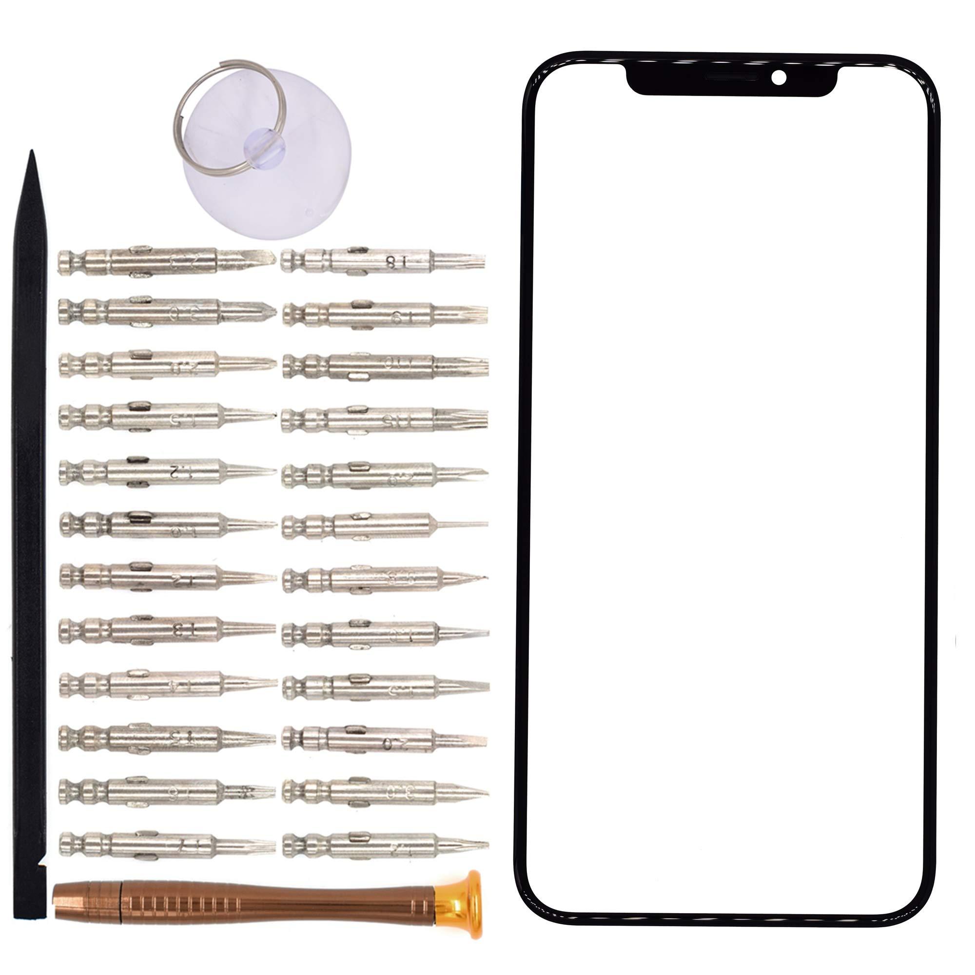 Vidrio Frente Para Apple iPhone X Negro [goodyitou]