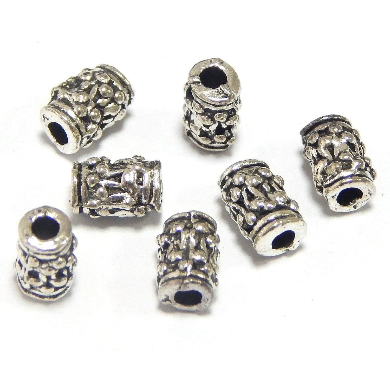 20 Metallperlen 8mm Tibet Silber Zwischenteile Spacer Röhre Schmuck Best F253