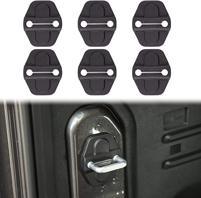 4 PCs LAIKOU Black Door Sill Guards Entry Plate Cover Protectors Interior Accessories for 2018-2021 Jeep Wrangler JL JLU /& Gladiator JT
