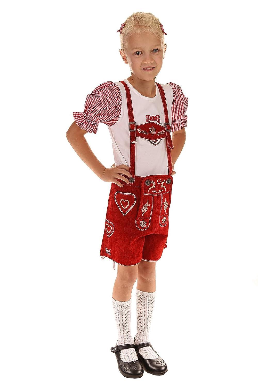 Isar Trachten Kinder Lederhose rot 51791 rot