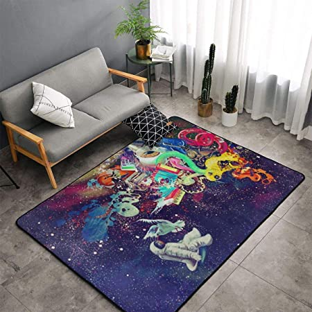 Alfombra para el Dormitorio, salón, Cocina, tamaño Grande, para el hogar, diseño de Astronauta Triple, Alfombra de Secado rápido, Esterilla de Yoga, Alfombra de algodón: Amazon.es: Hogar