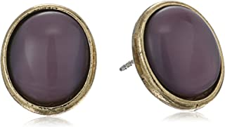 product image for 1928 Jewelry Gold-Tone Oval Post Button Stud Earrings