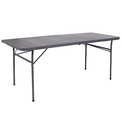 amazon com flash furniture 30 w x 72 l bi fold dark gray plastic