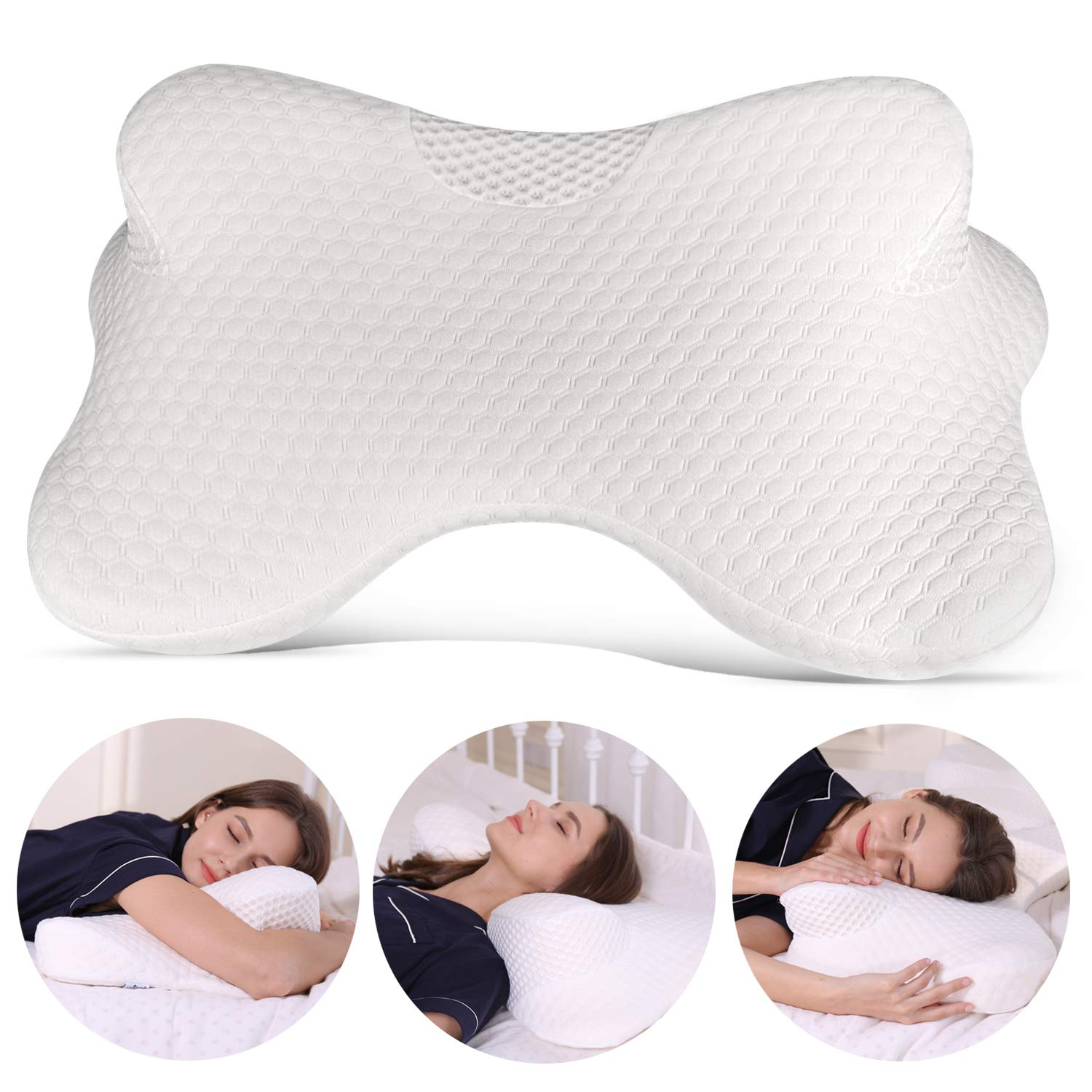 Coisum Stomach Sleeping Back Sleeping Cervical Pillow - Memory Foam Belly Sleeper Pillow for Neck and Shoulder Pain Relief - Orthopedic Ergonomic Pillow with Breathable Cover by Coisum