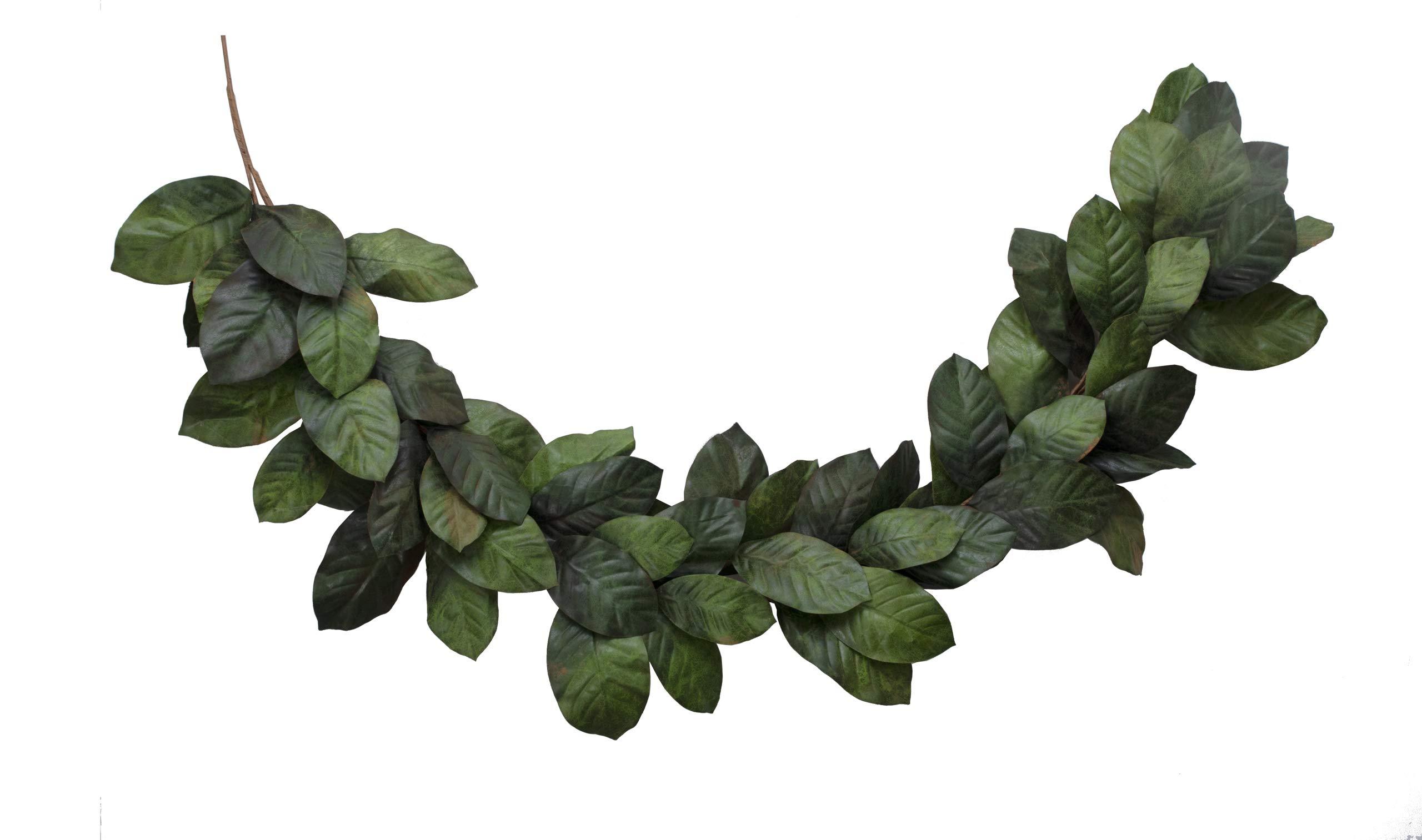 Vita Domi 6 Foot Magnolia Leaf Garland 2 Tone Green (VTD-ABF-NF2002)