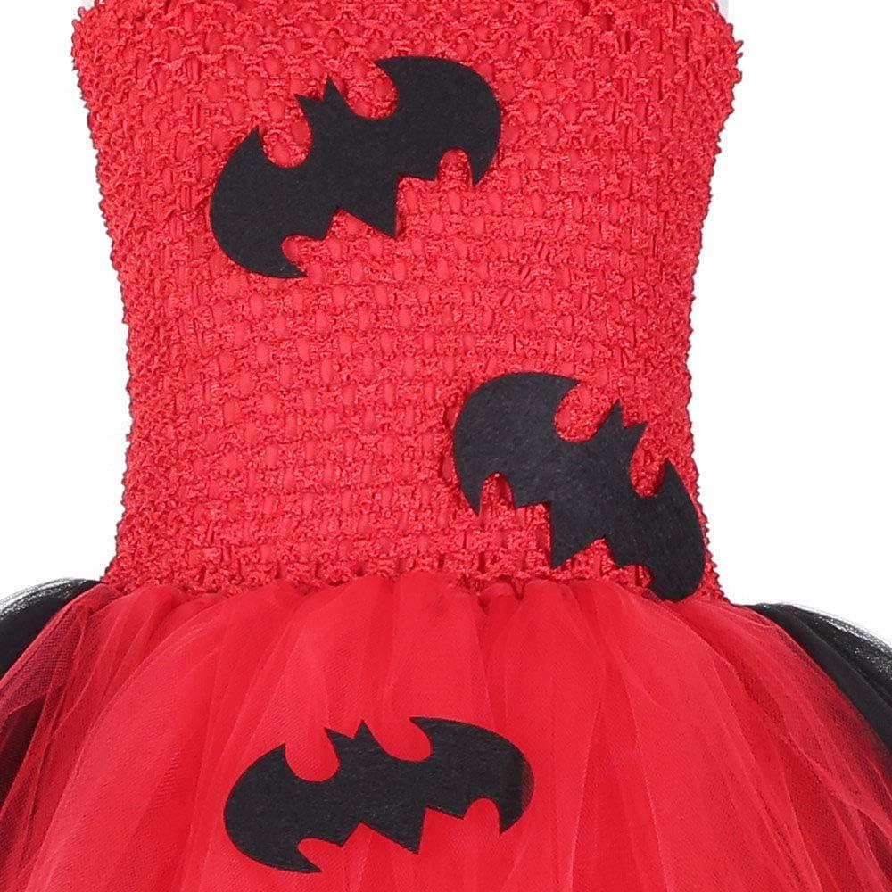 JJAIR Traje de Batman de Halloween, Las niñas en Capas de Tul ...