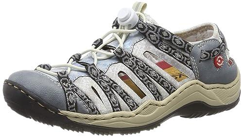 huge selection of 458d2 39ce7 Rieker Sneaker in Übergrößen Blau L0577-12 große Damenschuhe