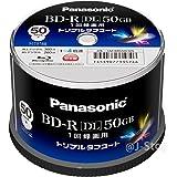 Panasonic 録画用4倍速ブルーレイディスク片面2層50GB(追記型)スピンドル50枚 LM-BRS50L50S【WEB限定】