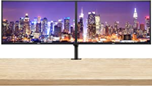 Dell E2720HS 27 Inch FHD (1920 x 1080) LED Backlit LCD IPS Monitor 2-Pack Bundle with Desk Mount Clamp Dual Monitor Stand, VGA and HDMI Ports