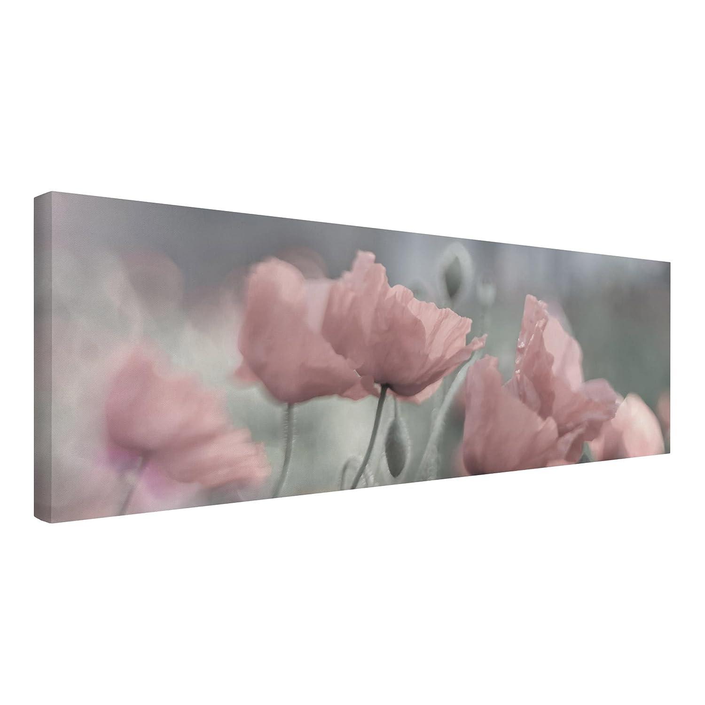 Bilderwelten Leinwandbild - Malerische Mohnblumen - Panorama Quer, Größe HxB  50cm x 150cm