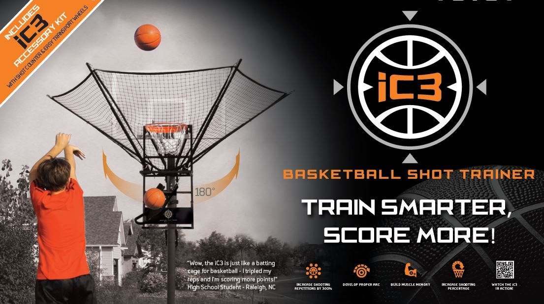 iC3 Basketball Shot Trainer WITH accessories. by iC3 by Airborne Athletics