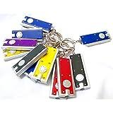 Joinwin Mini LED Flashlight Key Chain Thin LED Flashlight on Keychain- DOZEN(Colors May Vary)