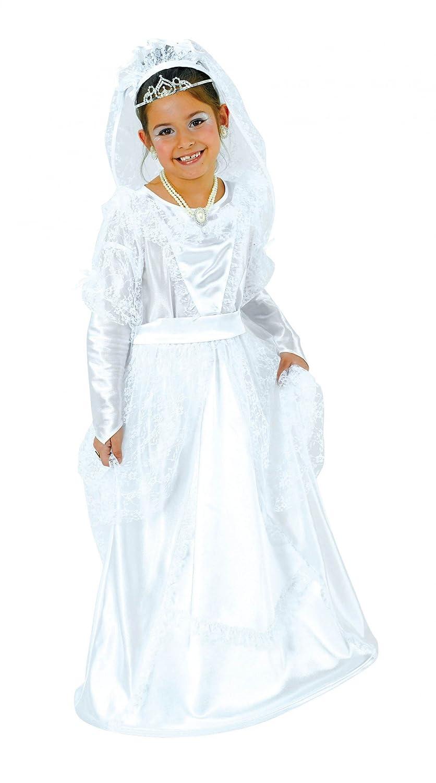 Karneval Kostüm \'Brautkleid\' für Kinder, Größe:128: Amazon.de: Spielzeug