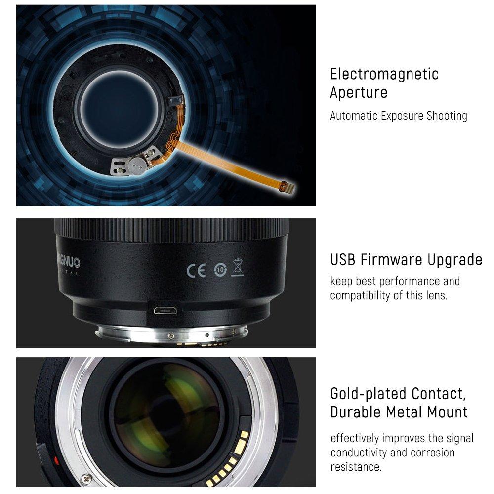 YONGNUO YN50mm F1.4 Objectif Grande Ouverture Auto Focus pour Canon EOS 70D 5D2 5D3 600D DSLR Cam/éra