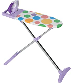 Unibos Children Pretend Play Folding Ironing Board Toy with Iron Fun Activity House Play Bedroom Xmas Birthday Gift Set