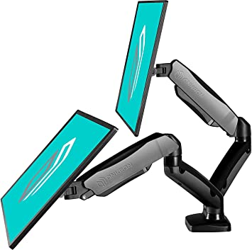 Dual Monitor Stand Two 13-27 Inch Double Articulating Arm Monitor Desk Mount