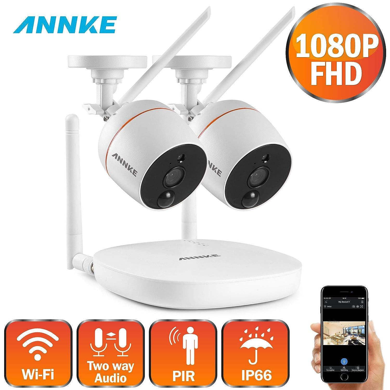 no incluido ANNKE Mini Kit sistema de vigilancia wifi 1080P FHD 4CH NVR con 2 * IP c/ámaras de seguridad 2MP Impermeable audio bidireccional detecci/ón de movimiento PIR soporte 128G tarjeta TF
