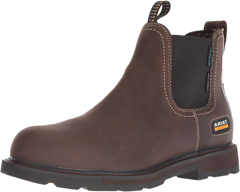 Amazon Com Ariat Men S Groundbreaker Chelsea H2o Steel Toe Industrial Construction Boots