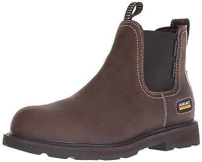 124dac107f7 ARIAT Men's Groundbreaker Chelsea Waterproof Steel Toe Work Boot