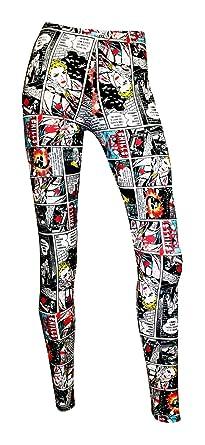 c234ffbd7489f Amazon.com: Comic Strip Book Retro Classic Print Leggings: Clothing
