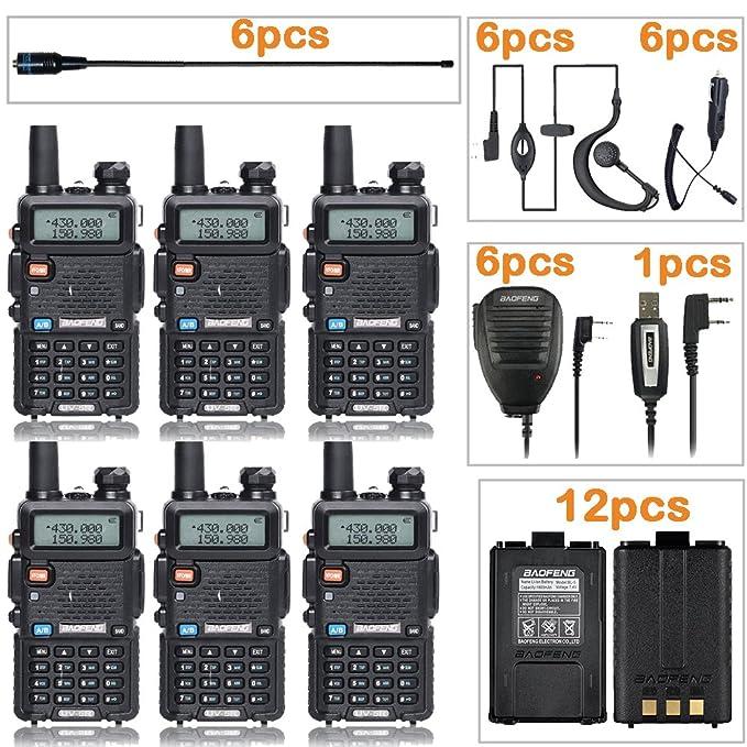 Amazon.com: Baofeng UV-5R Radio de jamón con na-7771 antena ...