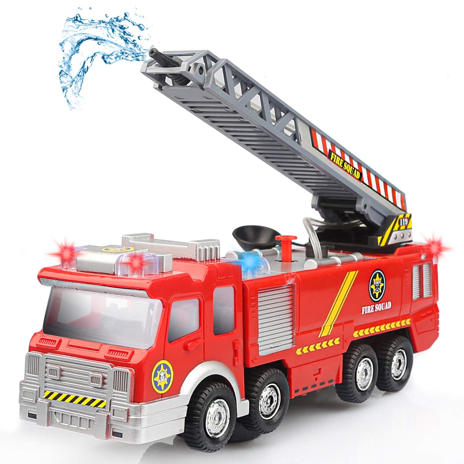 YIMORE Kids Fire Engine Truck Toy Rescue Vehicle Go Action Car toy For Kids (Fire truck)