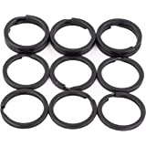 Metal Flat Key Rings - Black Split Keychain Ring 1 Inch/2.5cm Diameter, Heavy Duty Connector Clasp Clip Small Bulk O Round Keyrings For Home Car Keys Organizer Lanyards Attachment (12 Pieces)