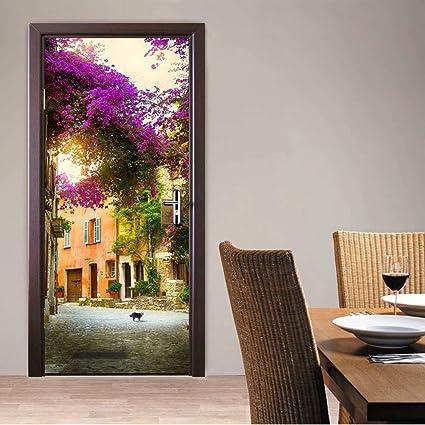 Amazon Com Tifege Door Sticker Wall Paper 3d Wallpaper Diy Poster