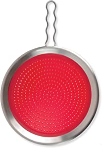 Tovolo Silicone Splatter Screen, Easy-Clean, Splatter Screen for Bacon, Sauce, Oil, Heat-Resistant to 600ᴼF
