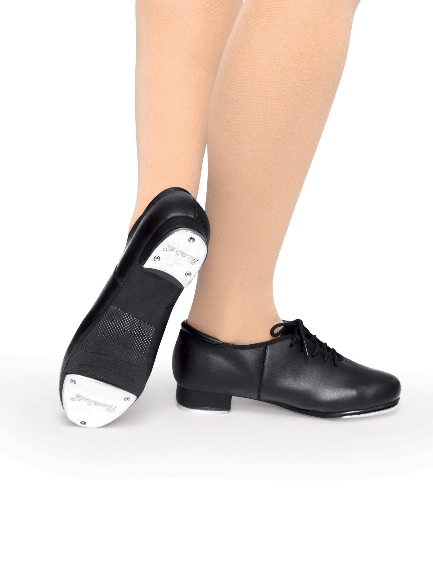 Adult Lace Up Tap Shoes,T9500BLK08.0M,Black,08.0M