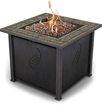 Delightful Bond Rockwell 68156 Gas Fire Table, 30u0026quot;