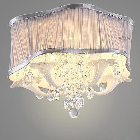 estilo americano Romántico Cristal LED Lámpara de techo ...