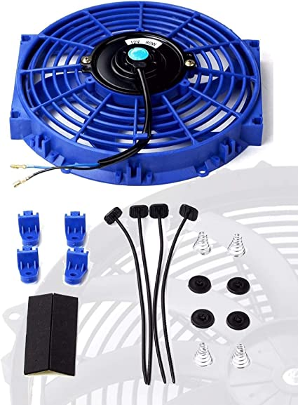 "2 X 10/"" inch Universal Slim Fan Push Pull Electric Radiator Cooling Mount Kit"