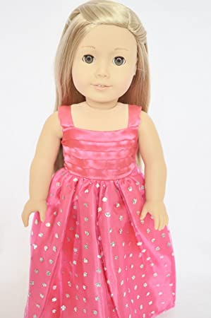 Brittanys Pink Sparkle Princess Dress for 18-Inch American Girl Dolls