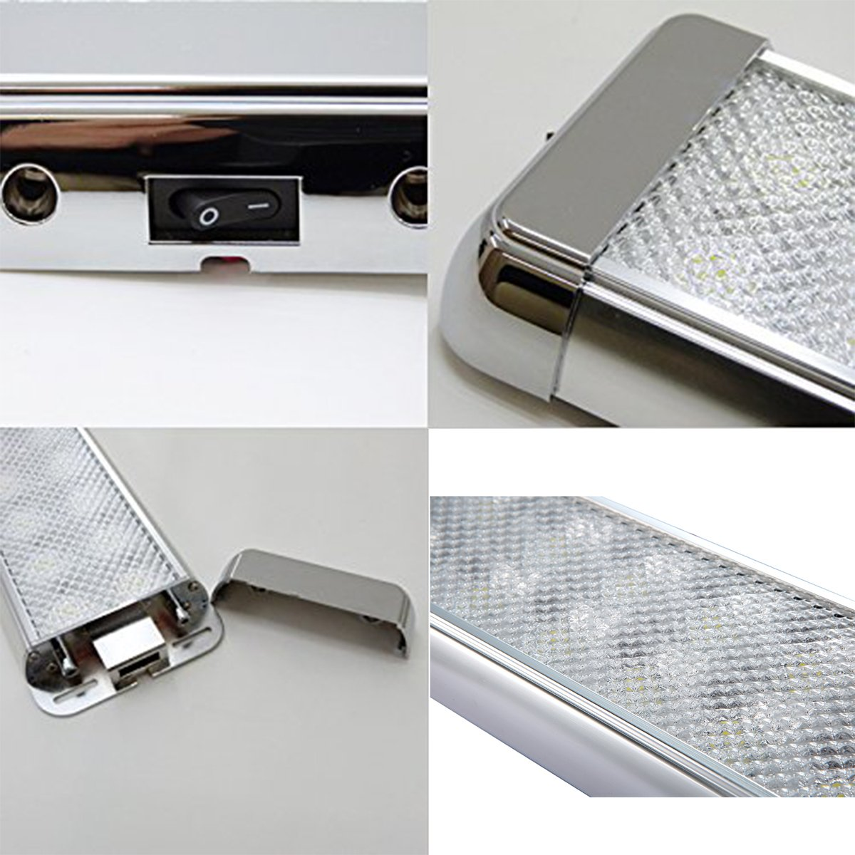 lightronic 41.8 Inches 60W LED Interior Dome Light Fixture Fit for RV, UTV and Boats by lightronic (Image #3)