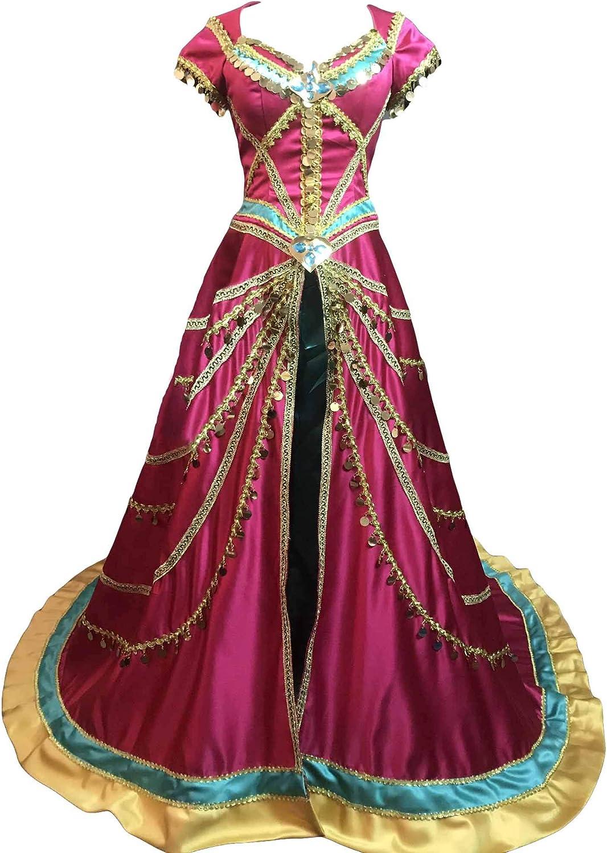 Amazon Com Myyh Adult Princess Jasmine Dress Cosplay Costume