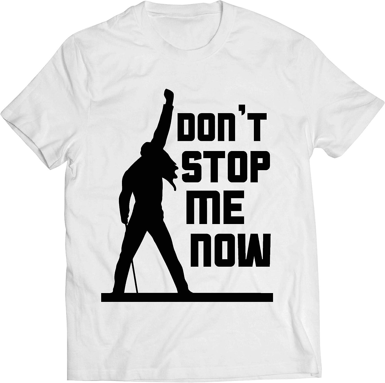 lepni.me Camisetas Hombre Don't Stop me Now! Camisas de Abanico, Regalos de músicos, Ropa de Rock