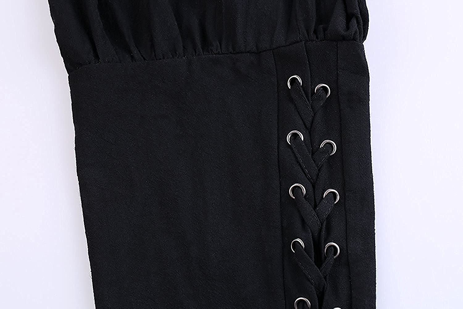Mens Medieval Viking Pirate Pants Renaissance Ankle Banded Cosplay Costume Gothic Trousers