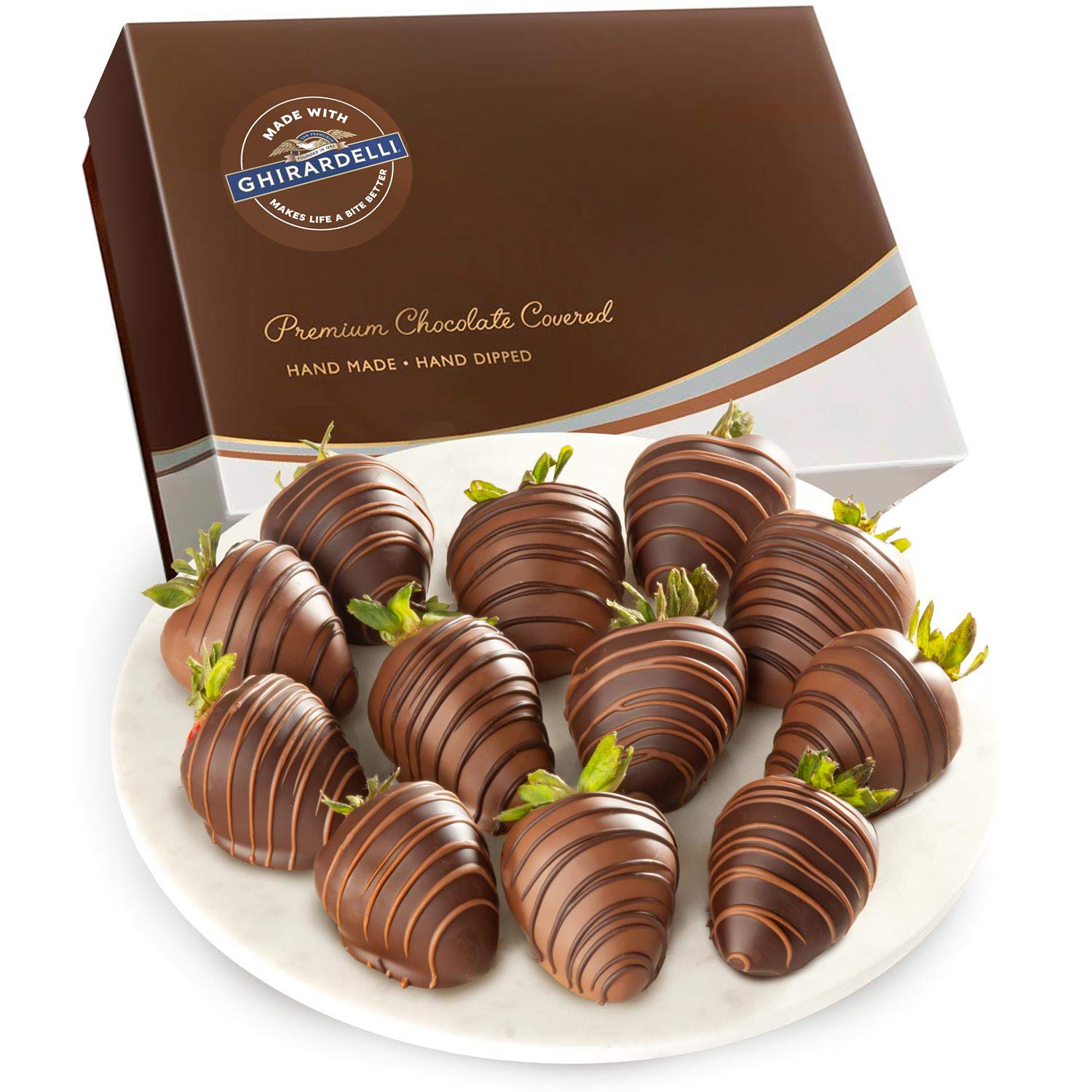 Made With Ghirardelli Chocolate Covered Strawberries, 12Count by Golden State Fruit