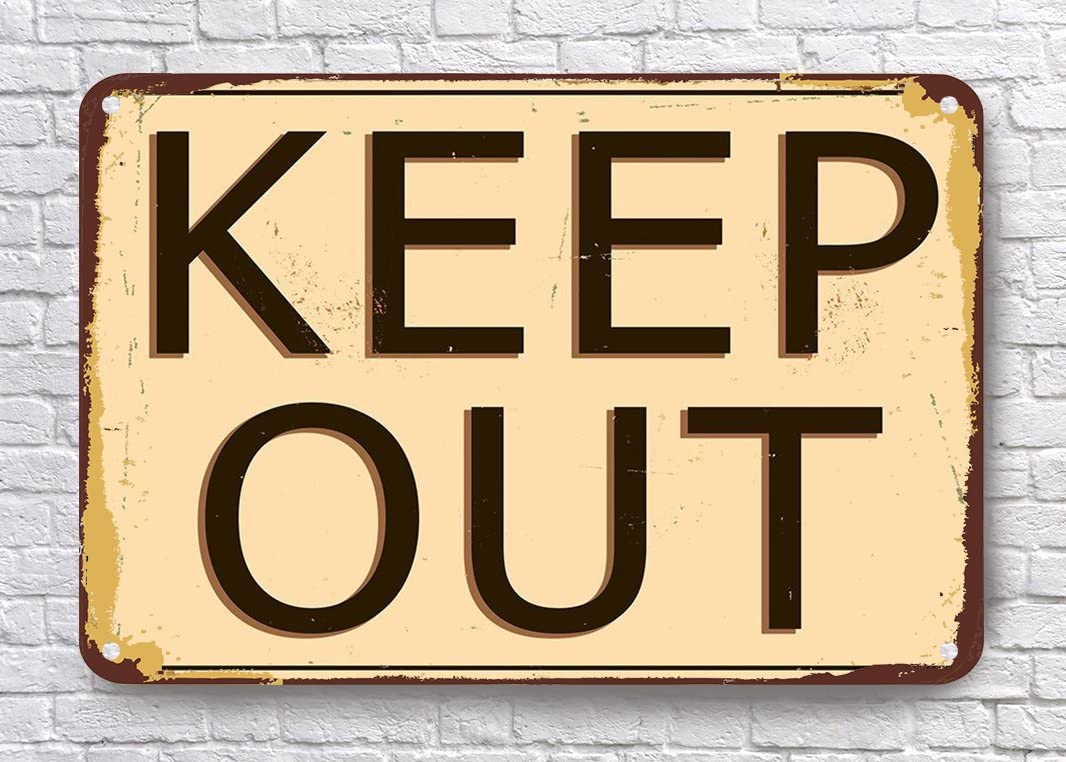 new style office design danger keep out metal tin sign