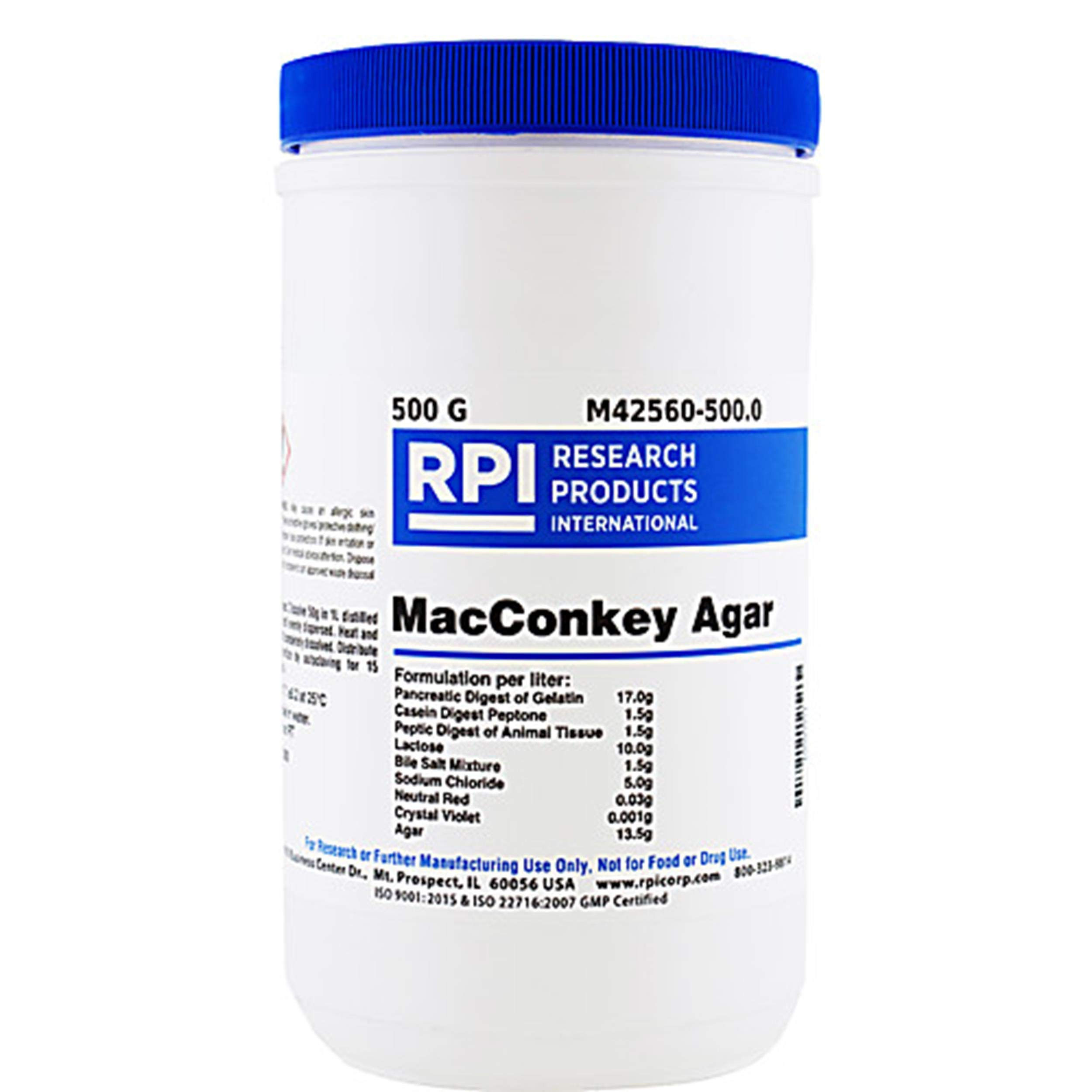 RPI L24030-500.0 LB Agar Low Salt Formula Powder 500g