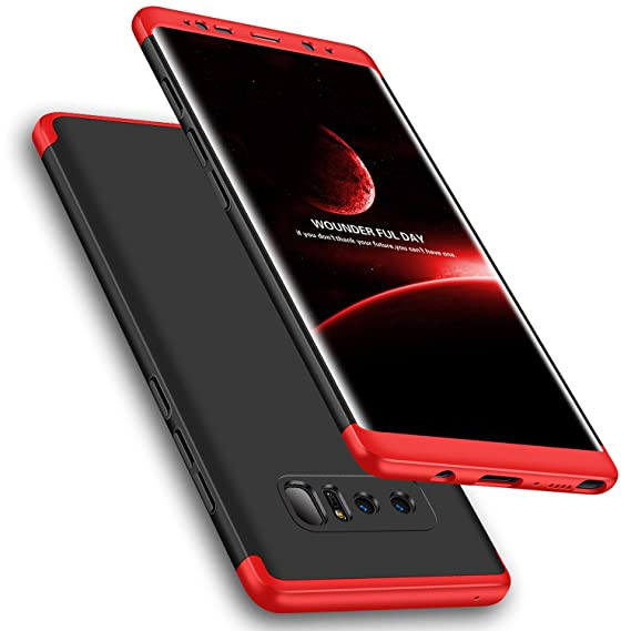 online retailer 40f13 192cb Galaxy Note 8 Case, Wellerly 3 in 1 Ultra Slim Hard PC Premium Case Hybrid  Anti Fingerprint Scratches Soft Grip 360 Degree Full Body Protection Cover  ...