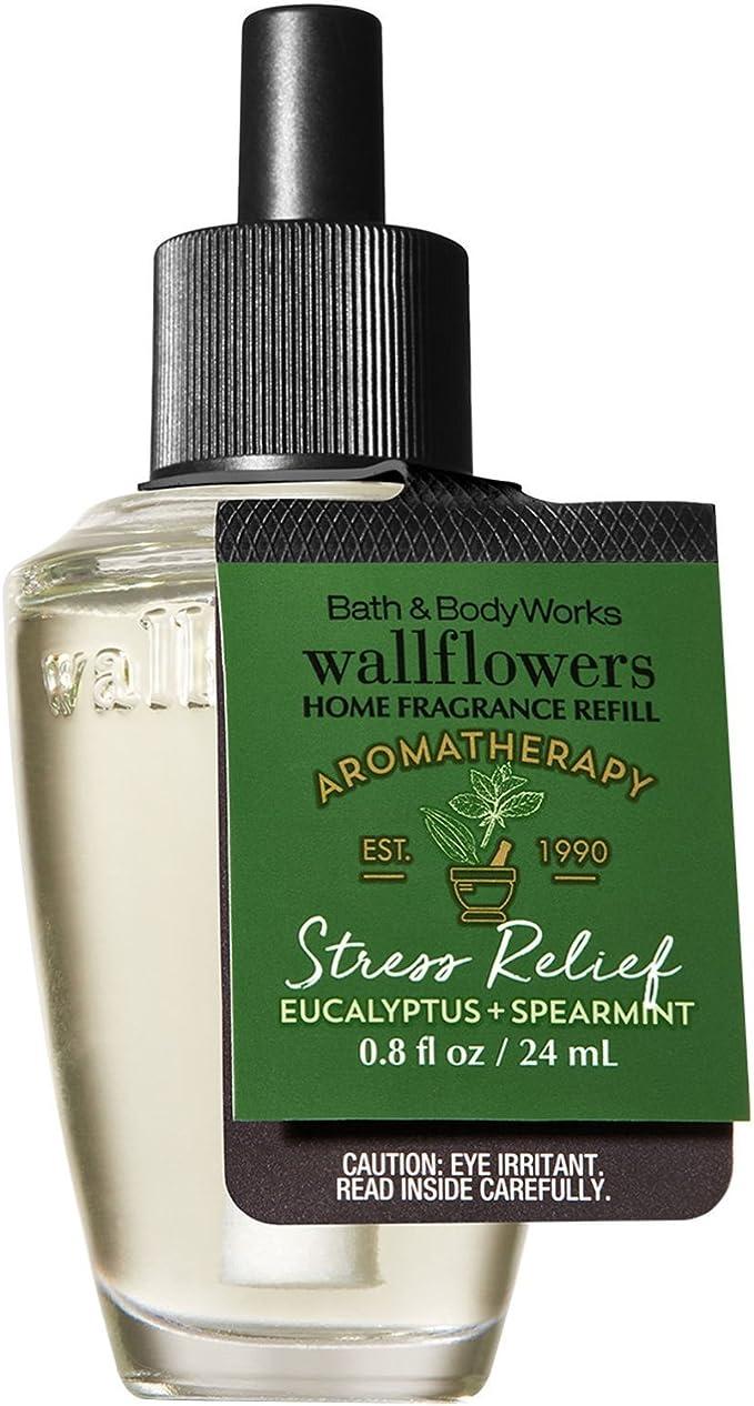 Bath /& Body Works AROMATHERAPY STRESS RELIEF Wallflowers Refill Bulbs Lot of 4