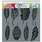 Commonwealth Basket Crafter's Workshop Template, 12 by 12-Inch, Fancy Feathers