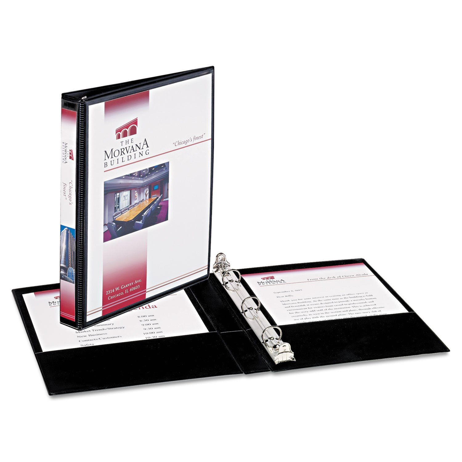 Avery 27725 Mini Size Durable View Binder w/Round Rings, 8 1/2 x 5 1/2, 1/2'' Cap, Black