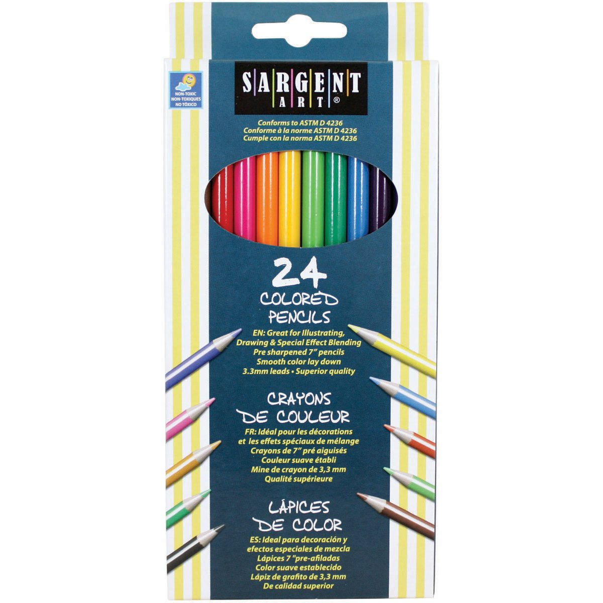 Sargent Art 22-7224 24-Count Assorted Colored Pencils by Sargent Art (Image #1)