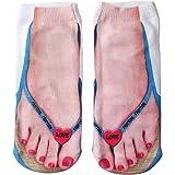 Ryshman 3D pattern socks women Print Socks Casual Personalized Flip Flop Socks Low Cut Ankle Socks